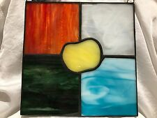 Fifth Element Stained Glass Panel Suncatcher Wall Decoration