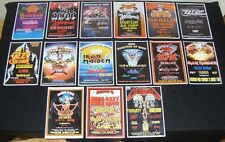 Monsters Of Rock Concert Posters Donington UK (15 X A4 Size 1980-1996)