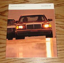 Original 1987 Mercedes-Benz Full Line Sales Brochure 87 S-Class