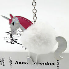 White Unicorn Horse Keychain Keyring Key Chain Ring Bag Charm Pendant Gift