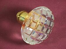 Cut Glass Crystal Door Knob Gold Base Rare