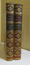 rall DON QUIXOTE, Cervantes, 1840, 2 volumes, Leather, Illustrated