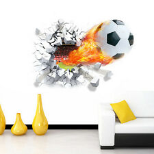 3D Football Wall Sticker Soccer Ball Removable Decal Mural Home Decor Vinyl Art