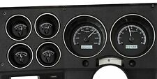 1973-1987 Chevy Truck Black Alloy & White Dakota Digital VHX Analog Gauge Kit