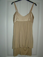 Ladies Cream Bubble Hem Tunic / Dress With Adjustable Straps Size: 10 By: Rare