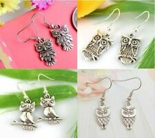 Wholesale New Lady 4 Pair Charm Fashion Jewellery Silver Owl Mix Stud Earring