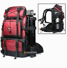 Waterproof Professional DSLR SLR Camera Backpack 17'' Laptop Bag Padded Rucksack