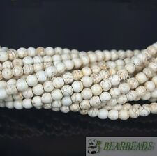 Howlite Turquoise Gemstone Round Loose Beads 2mm 3mm 4mm 6mm 8mm 10mm 12mm 16''