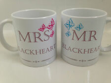 Personlised mr & mme butterfly 11oz tasses