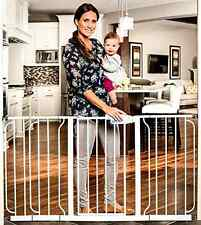 Extra WideSpan Walk Through Safety Gate Dog Puppy Pet Fence Barrier Indoor home