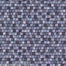 Purple Mosaic Tile, 3d Effect, Solid Vinyl, Fully Washable Wallpaper