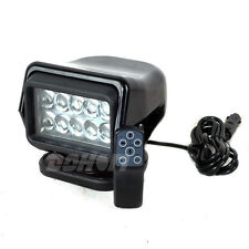 50W Cree Led Search work Spotlight Control Remote Magnetic Black Fish Hunt Camp