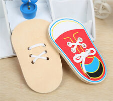 1 x Learn To Lace Tie Shoes Practice Lacing Learning Shoe Children's Shoelace PR
