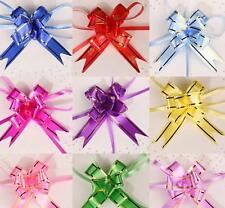 10Pcs Decoration Party Wedding Birthday Gift Flower Bow Wrap Pull Ribbon MP