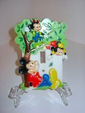 Vintage 1976 Disney Mickey Mouse Wall Light Switch Cover Face Plate Morty Ferdie