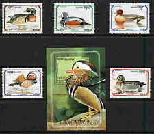 CAMBODIA 1993 DUCK STAMPS - MINT COMPLETE SET AND SHEET