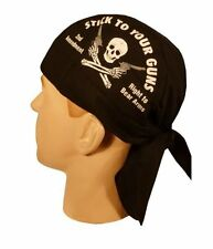 2ND AMENDMENT SKULLCAP HEAD WRAP ** MADE USA **  SWEAT BAND