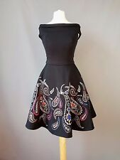 Ted Baker dress Adze bardot treasured trinkets paisley skater size 0 UK 6