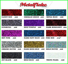 METAL FLAKE GLITTER MIXED COLOUR 5 x 6g SAMPLE PACK CUSTOM METALFLAKE PAINT