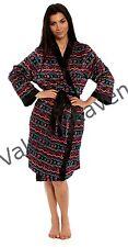 Ladies Satin Summer Kimono Silky Oriental Dressing Gown Robe Aztec FloralPaisley