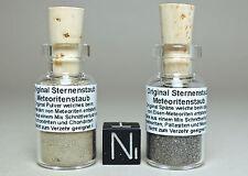 Étoiles poussière set + CERTIFICAT-pierre + fer météorite METEORITE stardust