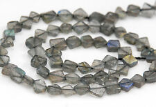 STRAND SPARKLY LABRADORITE SMALL DIAMOND BEADS, 5 MM, GEMSTONE