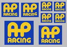 AP RACING Decalcomania Set 8 Qualità Stampato E Adesivi Laminati