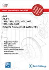 1998 1999 2000 2001 2002 2003 2004 2005 Audi A6 S6 RS6 Repair Manual DVD AC55