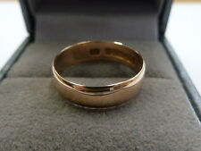 Antique Edwardian 9ct Rose Gold Wedding Band Size K  1908-09