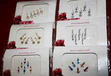 6 Pack Forehead Bindi Jewel (2 Gold, 2 Silver, 2 Colourful)