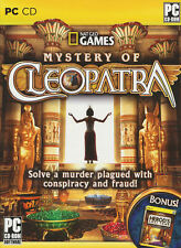 National Geographic MYSTERY OF CLEOPATRA Windows PC Game + FREE BONUS! NEW!