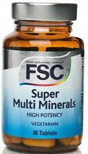 FSC Super Multi Minerals HIGH POTENCY 30 Tablets *BUY 1 GET 1 FREE*