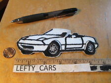 1990 WHITE MAZDA MIATA MX-5 EMBROIDERED CLOTH PATCH - IRON-ON/SEW ON - stock#2