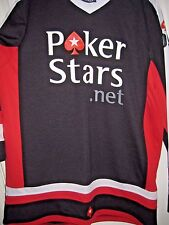 Pokerstars Net Com Long Sleeve Sports Hockey Shirt Free Shipping
