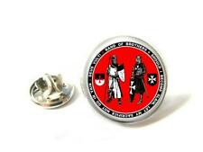 SEAL OF KNIGHTS TEMPLAR FREEMASON LAPEL PIN BADGE GIFT Hand  Made