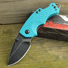 Kershaw Shuffle Teal K-Texture Blackwash 8Cr13MoV Linerlock Knife 8700TEALBW