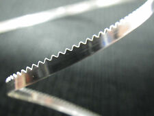 999 Pure Fine Silver Serrated BEZEL Strip 1/8 in x 28 Gauge 1ft 100% RECYCLED