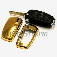 Audi Gold Remote Flip Key Cover Case Skin Shell Cap Fob Protection Bag Hull 58