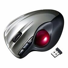 NEW Sanwa Wireless Trackball Mouse laser Silver MA-WTB43S Japan F/S