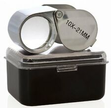New 10X 21mm Jewelry Magnifier Loupe Magnifying Glass Lens *US FREE SHIPPING*