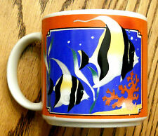 Collectible Moorish Idol Coffee Mug Tropical Zanclus Fish Tank Aquarium Tea Cup
