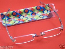 115:NEW Magnivision Line Your Eyes Unisex Reading Eyeglasses+Case-2.00