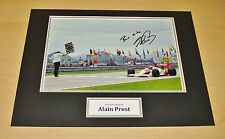 Alain Prost GENUINE SIGNED 16x12 Autograph Photo Display Formula One F1 + COA