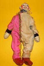 Ancienne jouet clown 20 cm pantin à la main alt début 20.jh.