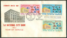 1971 Philippines 1st National City Bank 70th Year Of Service FIRST DAY COVER - A