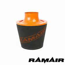 RAMAIR LARGE ALUMINIUM INDUCTION AIR FILTER WITH 70mm OD NECK IN ORANGE