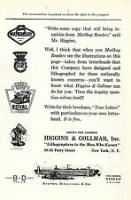 Higgens & collmar NEW YORK * American ad. in the thirties
