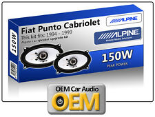 Fiat Punto Cabriolet speakers Alpine car speaker kit 150W Max power 4x6