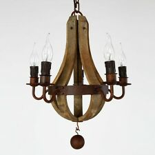 Vintage Rustic Pendant Lighting Wooden Chandelier Living Room Lighting Lamp NEW