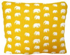 Yellow Elephant Fabric Cushion Cover Decorative Throw Pillow Case Rectangular
